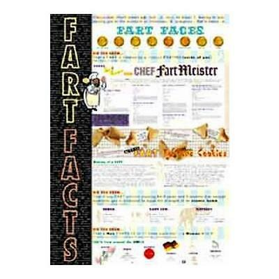 Fart Facts Humor Poster 24x36 Art Poster Print (Who Farted?)