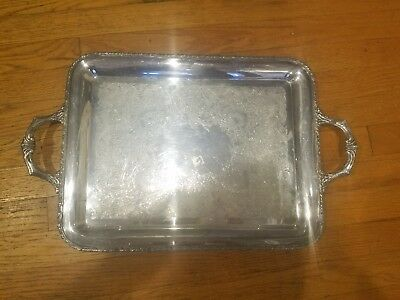 Vintage Antique Evandale WM Rogers 1190 18in Silver Plated Tray
