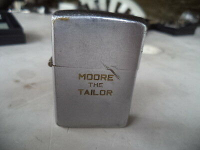 Zippo  Lighter  Vintage  Moore The Tailor Age 1937 50  Used