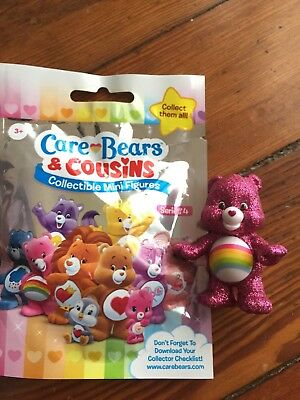 Care Bear And Cousins Series 4 Cheer Bear Chase Hard To Find Glitter