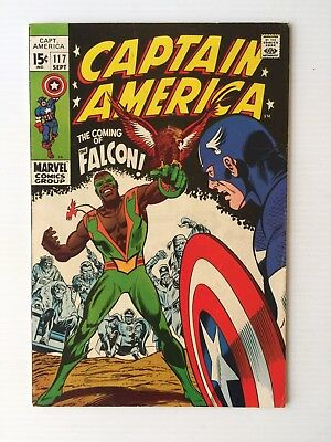 Captain America #117 - 1St App The Falcon Very Nice Higher Grade Copy! Beautiful