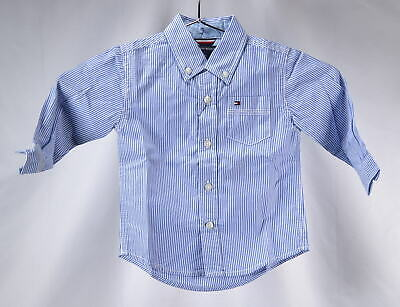 Tommy Hilfiger Baby Boys Button Up Dress Shirt -STRONG BLUE