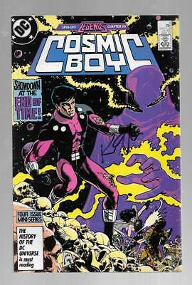 COSMIC BOY 4 SIGNED BY KEITH GIFFEN LAGION OF SUPER HEROES Night Girl LEGENDS 20