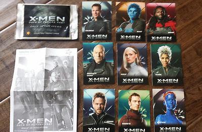 2014 Carls Jr Marvel X-Men Days Of Future Past Film 9 Karte Komplettes Promo Set