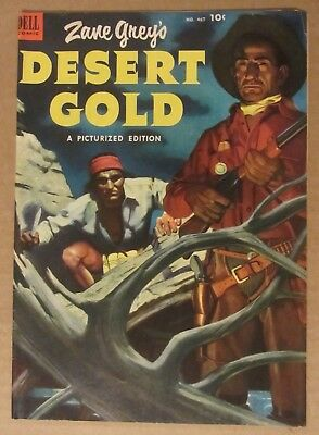 Four Color #447 Zane Grey's Desert Gold  (1953, Dell) 6.0...Painted cover.