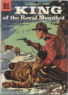 Goldlen Age westerns, King of the Royal Mounted 21 & 22 (1956 Dell) G to VG