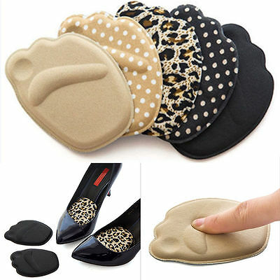 2 Pairs High Heel Insole Shoes Mats Foot Cushions Anti-Slip Forefoot Pads Unisex