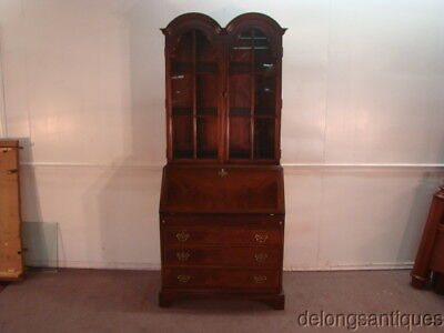 51058:Hickory Chair Solid Mahogany Bookcase Desk