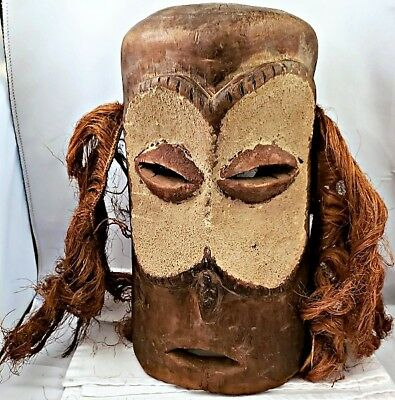 Vint PENDE PEOPLE, Congo HAND CARVED WOOD CEREMONIAL DANCE MASK Zaire NR