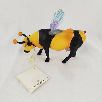 Cow Parade Figurine Bumble Bee Cow # 9135 Retired and Rare