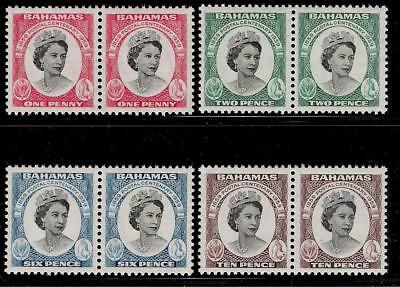 British Colony BAHAMAS 1959 Pairs of Set Mint Stamps - Queen Elizabeth