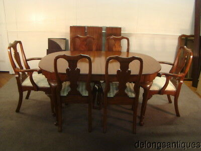50847:Henkel Harris Solid Cherry Queen Anne Dining Table & 6 Chairs