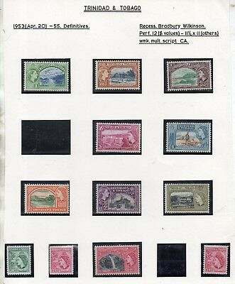 Trinidad And Tobago Stamps 1953-59 Queen Elizabeth Ii Definitives  Mnh And Mm