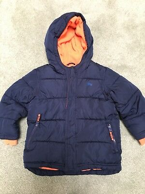 Boys Old Navy Frost-Free Puff Coat Winter Jacket Navy Blue Sz 4T