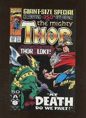 Thor 432 NM 9.2 * 1 Book Lot * 1st Eric Masterson as Thor! 350th Thor!