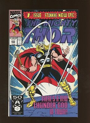 Thor 433 NM+ 9.6 *1 Book* New Thor - Eric Masterson! Whosoever Holds the Hammer!