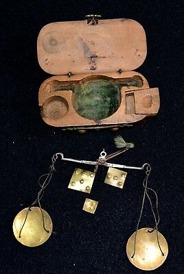 Small English Coin Weighing Set Late 17th century