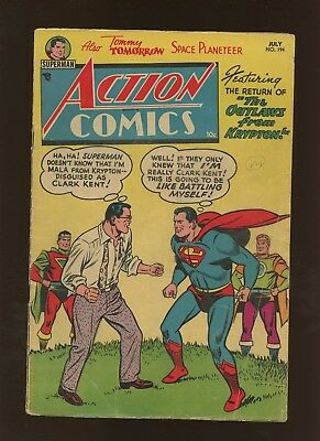 Action Comics 194 VG 4.0 * 1 Book Lot * Golden Age DC 1954! Superman & More!