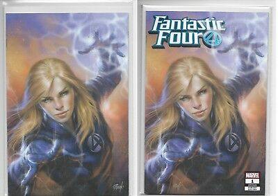 Fantastic Four #1 Lucio Parrillo Hero 2 Pack Variant Virgin + Trade Dress