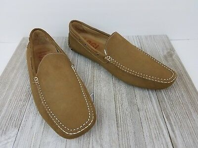 143cc34a96f 1901 Nordstrom Mens Tan Nubuck Leather Moc Toe Loafers Driving Shoes Size  14 M
