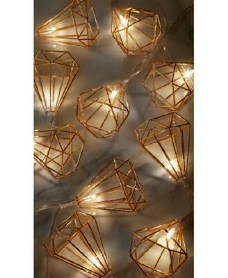 10 Foot, 10 Light Copper Accented LED String Light Battery Operated for Parties
