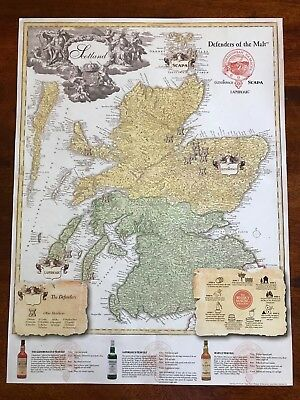 scotch whiskey map poster glendronach laphroig scapa defenders of the malt