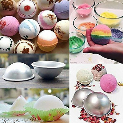 DIY Bath Bomb Mold 65mm Size 3 Sets 6 Pieces Sphere Round Ball Molds Metal