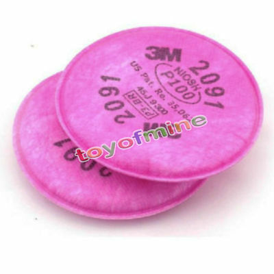 10pcs=5 packs 3M 2091 particulate filter P100 for 6000, 7000 series respirators