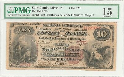 MO 1882 BB $10 Saint Louis, Missouri ch# 170 hard to find