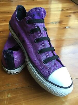 Purple Sparkly Converse All Star low Chuck Taylor Size 6 / 6.5