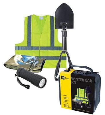 AA Essentials Winter Motoring Car Kit - Hi-Vis Vest, Shovel, Torch, Foil Blanket