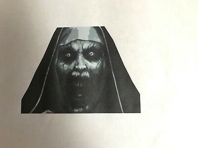 Multilayer step by step airbrush stencil Nun Horror