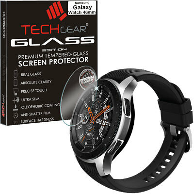 Genuine TECHGEAR TEMPERED GLASS Screen Protector for Samsung Galaxy Watch 46mm