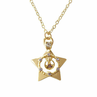 Anime Sailor Moon 25th Anniversary Star Metal Pendant Necklace Cosplay