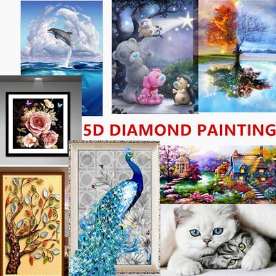 DIY 5D Diamond Needlework Embroidery Painting With Tools Home Wall Decoration FD