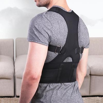 Posture Corrector Support Magnetic Back Shoulder Brace Belt Adjustable Women Men