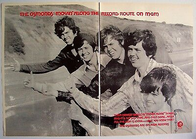 THE OSMONDS 1970 Poster Ad MOVIN' ALONG