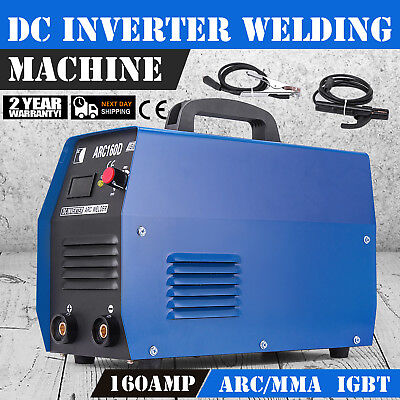 160 Amp Stick Arc DC Inverter Welder 115/230V Dual Voltage Welding ARC-160D