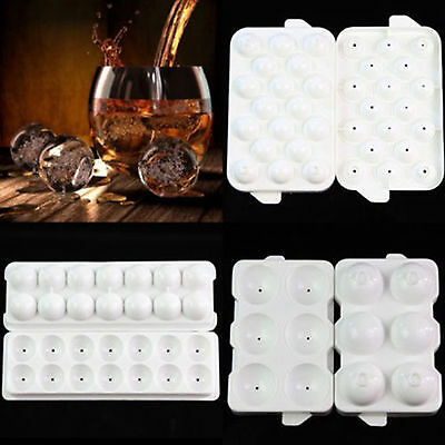 Silicon Ice Cube Party Tray Round Bar Whiskey Ball Maker Mold Sphere Brick