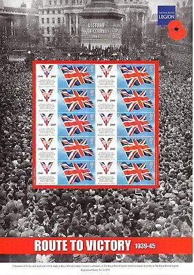 Stamp Sheet: Royal British Legion - Route To Victory 1939-45
