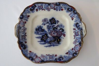 antique AMHERST JAPAN bread or cake plate 1840