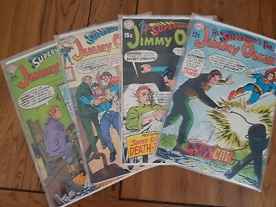 SUPERMAN'S PAL, JIMMY OLSEN #119, #121, #127 & #132  DC Comics 1969 FN/VFN