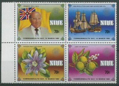 Niue 1983 Commonwealth-Tag Premierminister, Limone 486/89 ZD postfrisch (C25543)
