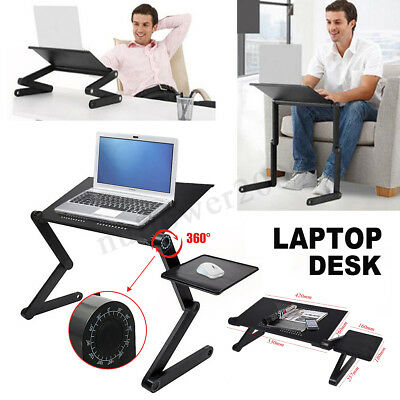 Folding Table Stand for Notebook Laptop with Mouse Holder Heat Radiation Black