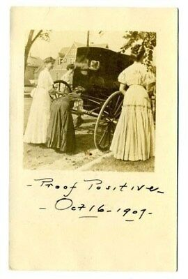 Women Working on Carriage Real Photo Postcard 1907