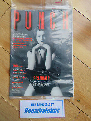 Vintage Punch Magazine 1988 - Scandal / Christine Keeler - Sealed
