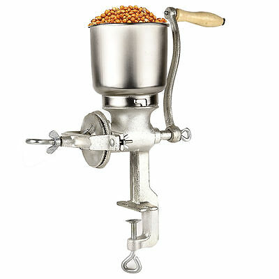 Kitchen Cast Iron Corn Mill Grinder Manual Hand Crank Grains Oats Coffee Nuts