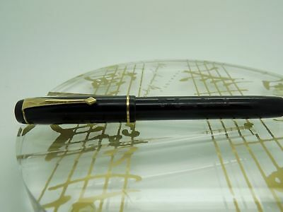 """Vintage Serviced Black 'The  Conway Stewart 286"""" with Flexible 14ct Gold Nib"""
