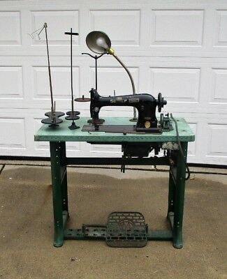 Commercial / Industrial SINGER SEWING MACHINE MODEL 31-15 w/ Table, Motor etc...