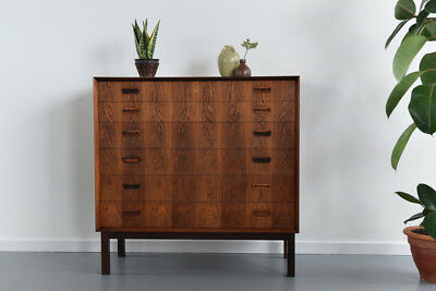Rare Vintage 1950s Rosewood Six Drawer Chest of Drawers by Borge Mogensen